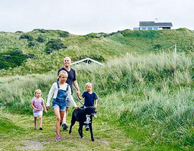 Ferienhaus mit Hund am Meer