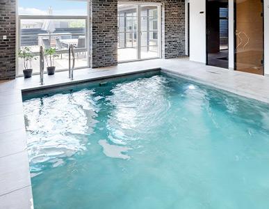 Schwimmbad im Ferienhaus Dänemark